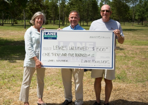 lane builders dog park donation